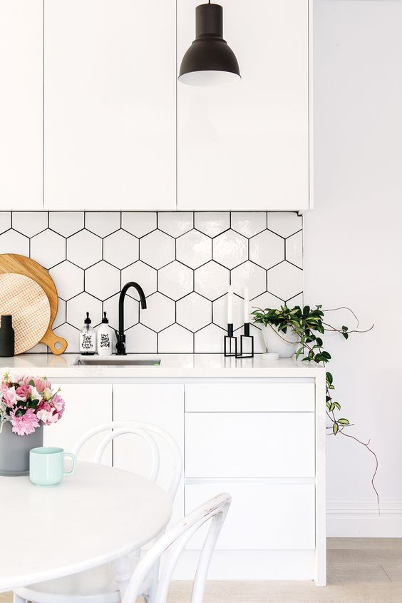 Ways to Use the Hexagon Tile, Shelves and Pattern in Your Home