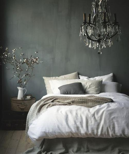 French bronze and crystal chandelier lustre bedroom