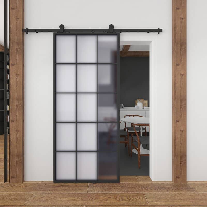 Glass Pane Barn Door