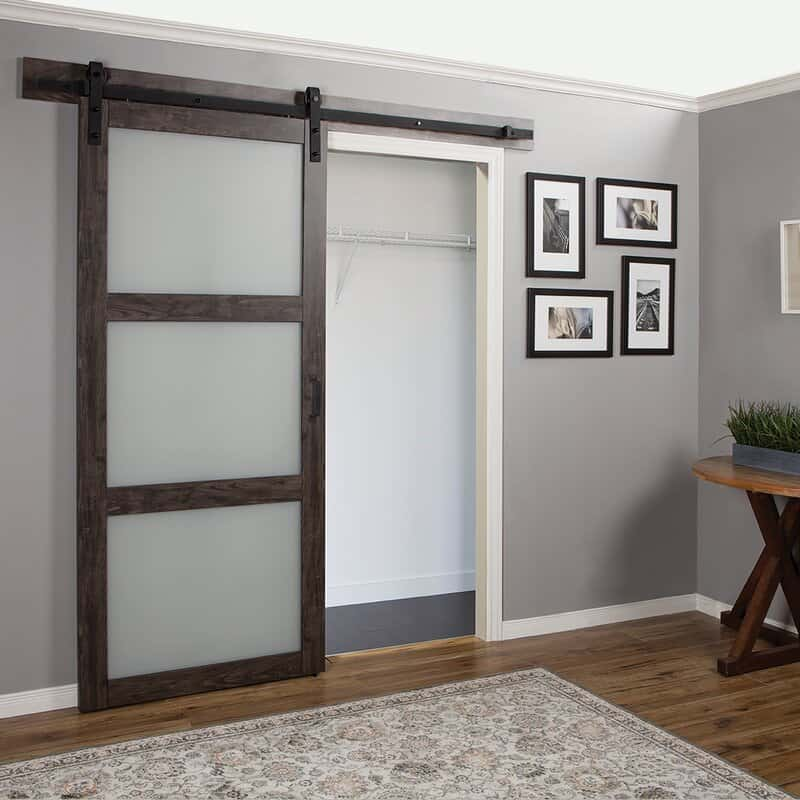 Privacy Glass Barn Door