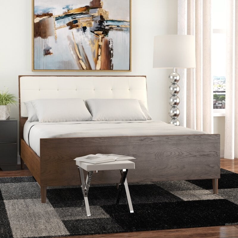 Add a Leather Headboard to the Bed