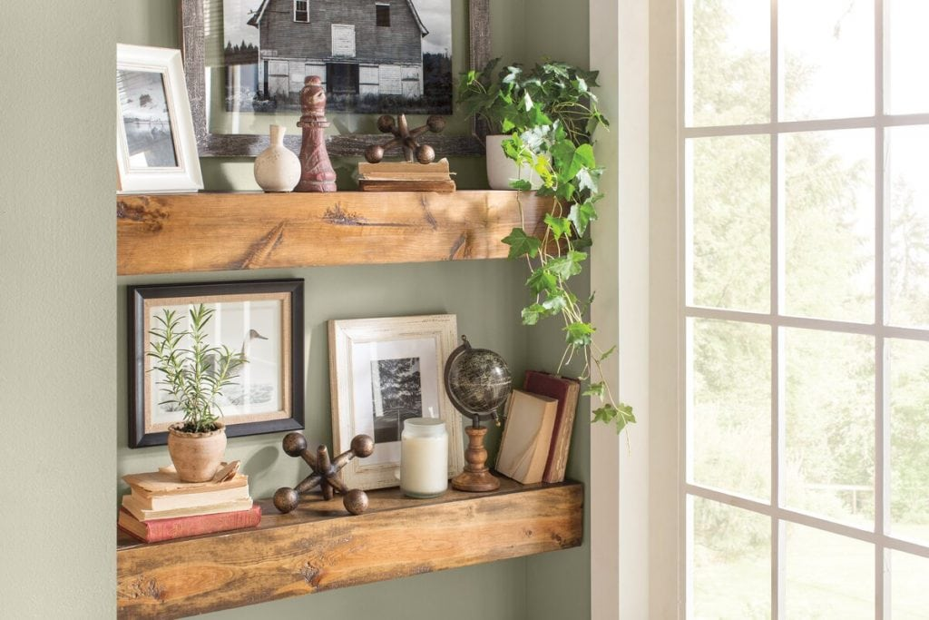 Add Some Rustic Floating Shelves