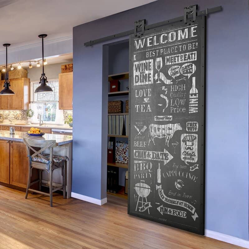 Chalkboard Finished Barn Door