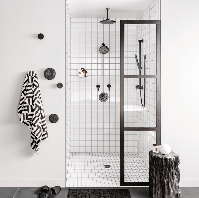 Use White Tiles to Make the Shower Seem Larger