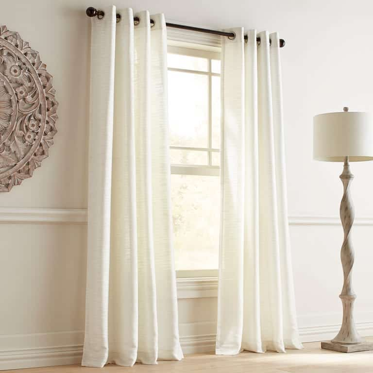 Airy White Curtains