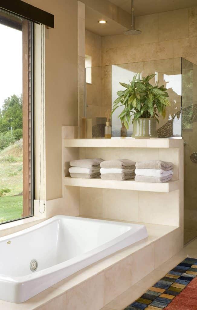 Build Shelves Into the Bathtub