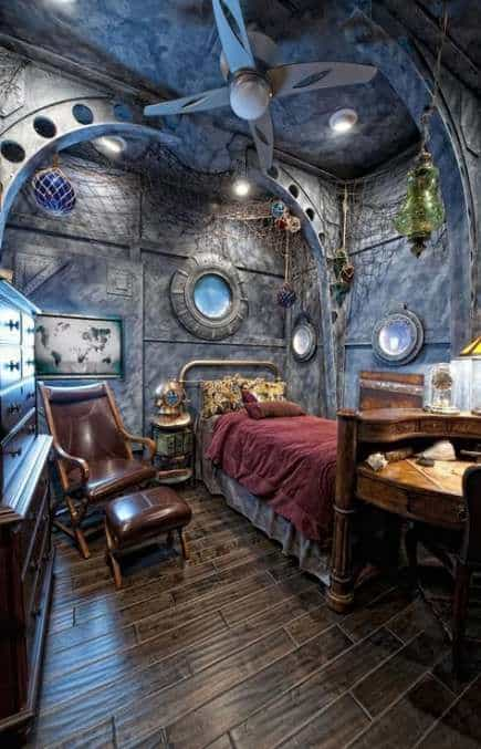 22 Awesome And Creative Steampunk Bedroom Ideas