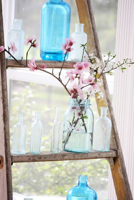 Display Decor Items and Glass Vases
