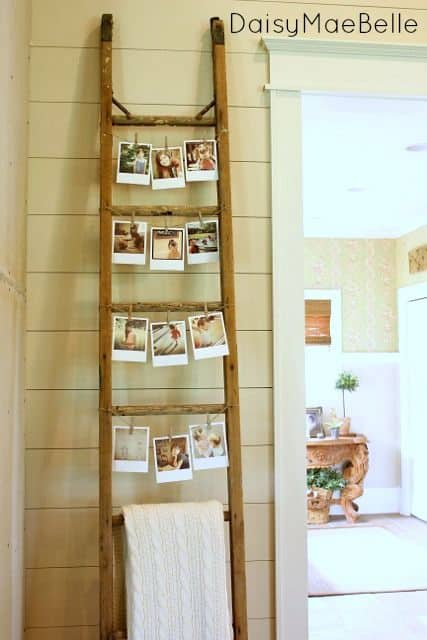 Photos Hang Perfectly From Smaller Ladders