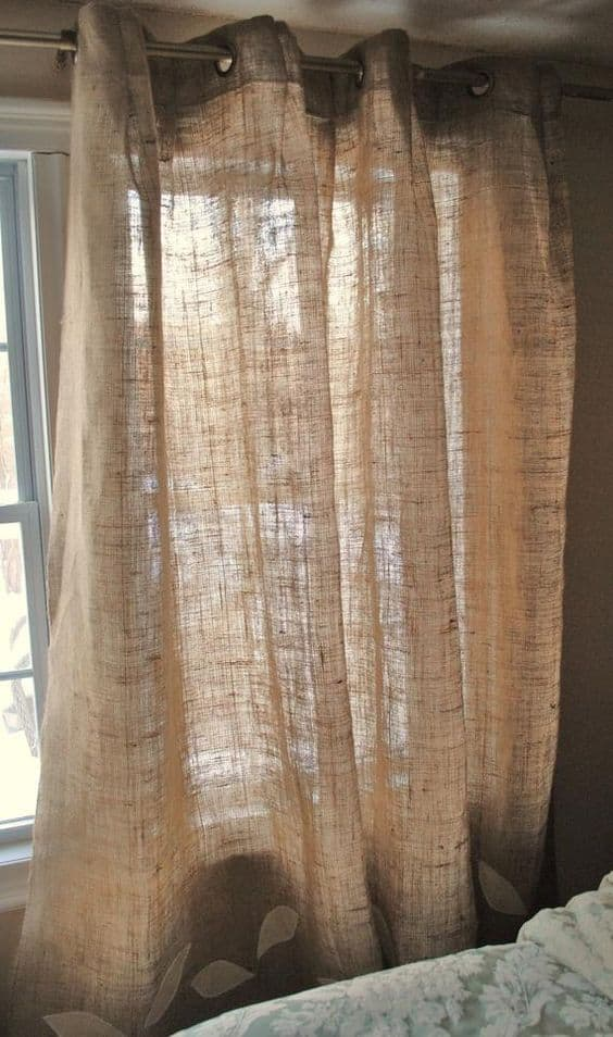 Burlap Curtains for a Rustic Look