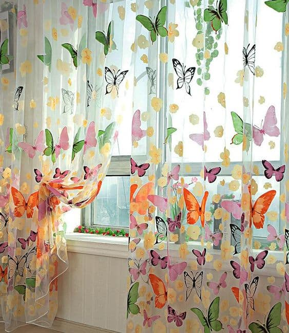 Sheer Printed Curtains