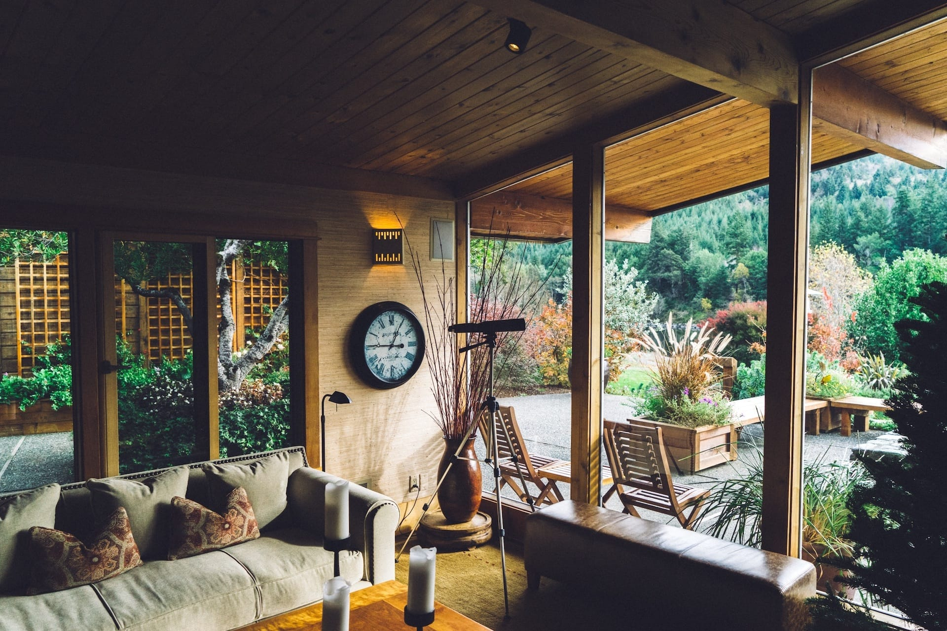 Build an Outdoor Living Room with a Permanent Roof