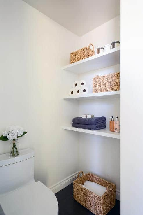 Fill Small Nooks With Floating Shelves