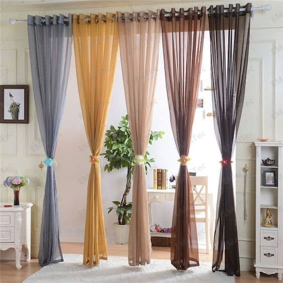All Curtains of Different Colors