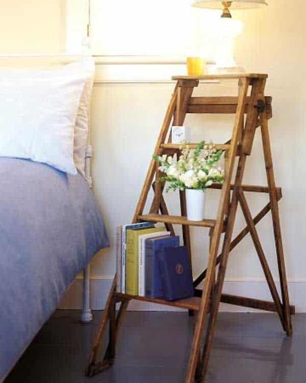 Find a Short Ladder for a Bedside Table