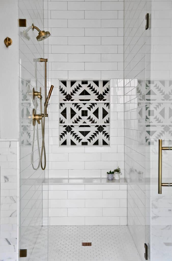 Add Contrasting Tiles for Built-In Shelves