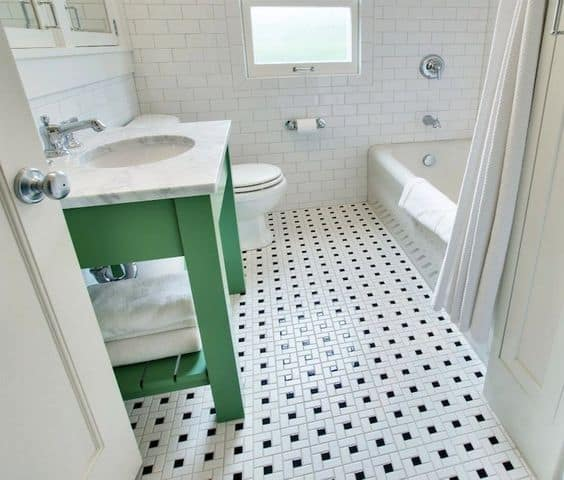Go Vintage With Small Black and White Tiles