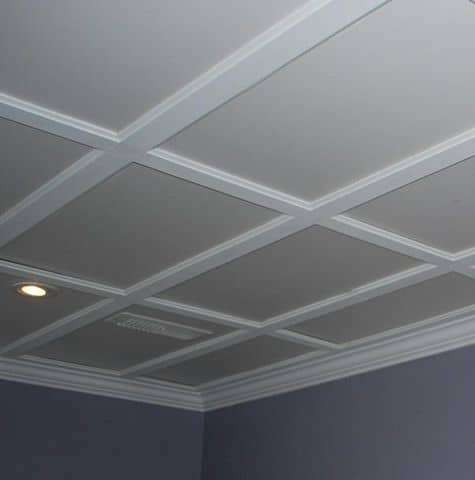 Check Out a Minimalist Drywall Ceiling