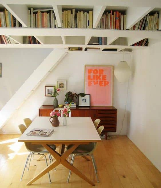 Get a Basement Ceiling That's Also a Bookshelf