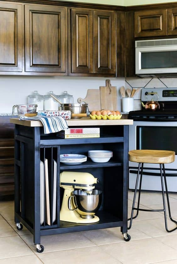 Rolling Multipurpose Kitchen Island