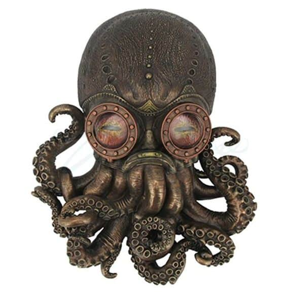 A Steampunk Octopus Wall Plaque