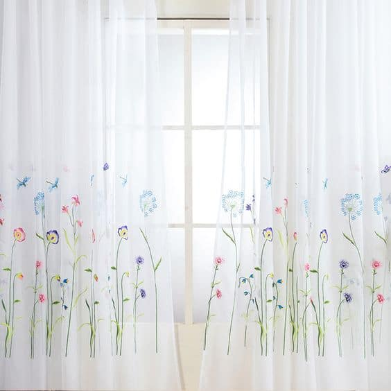 Embroidered Curtains Look Cool