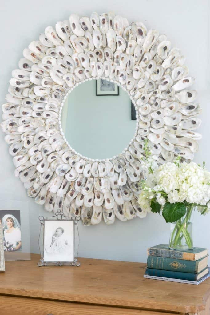 Make Your Own Gorgeous Oyster Shell Mirror