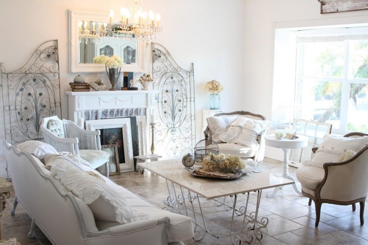 A Reclaimed Iron Gate in the Living Room