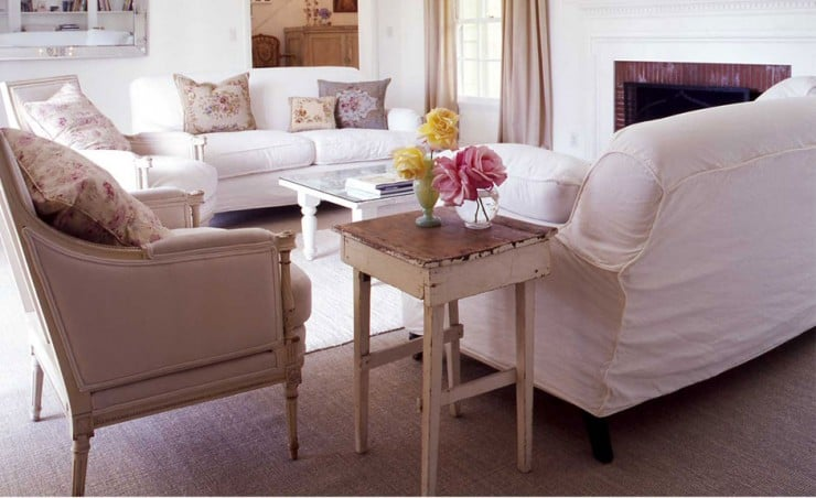 A Modern Shabby Chic Living Room