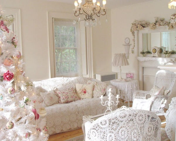 A Christmasy Shabby Chic Décor