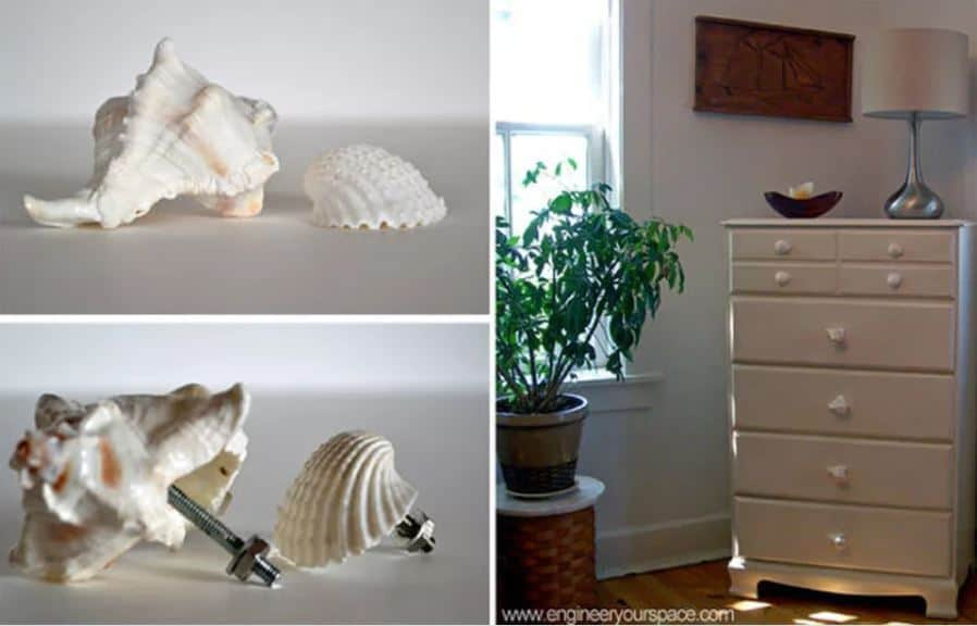 Make Your Own Seashell Dresser Knobs