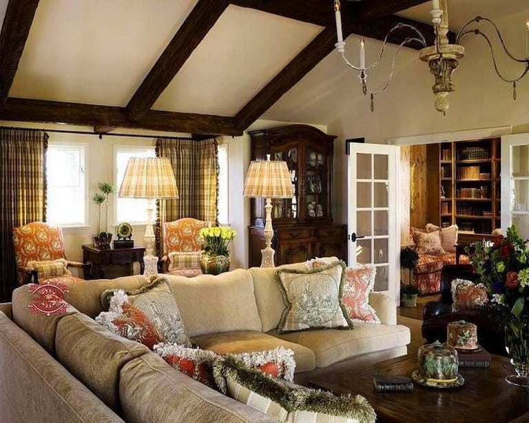 A Fluffy and Soft French Country Living Room