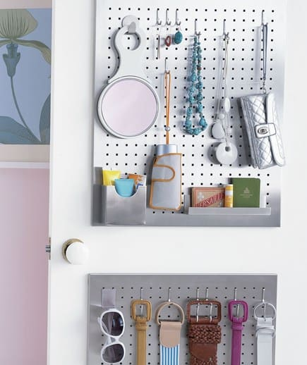 Organize Accessories on the Back of the Door