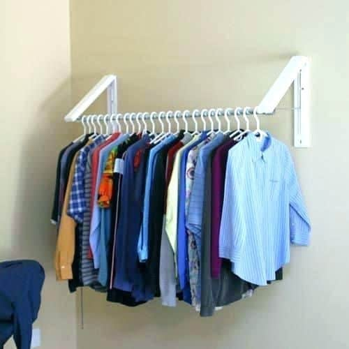 Use Hanging Brackets to Put Up Clothes