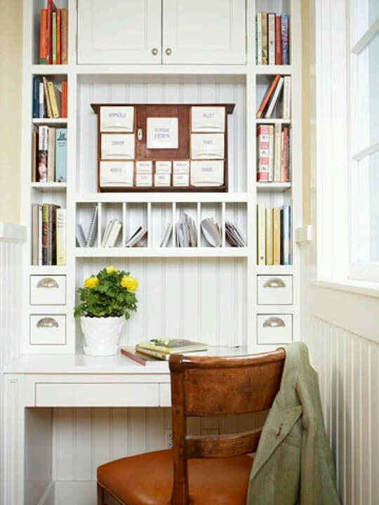 Create a Full Wall Office Storage Space