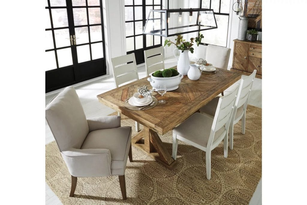 Look for a White Collection With a Farmhouse Table