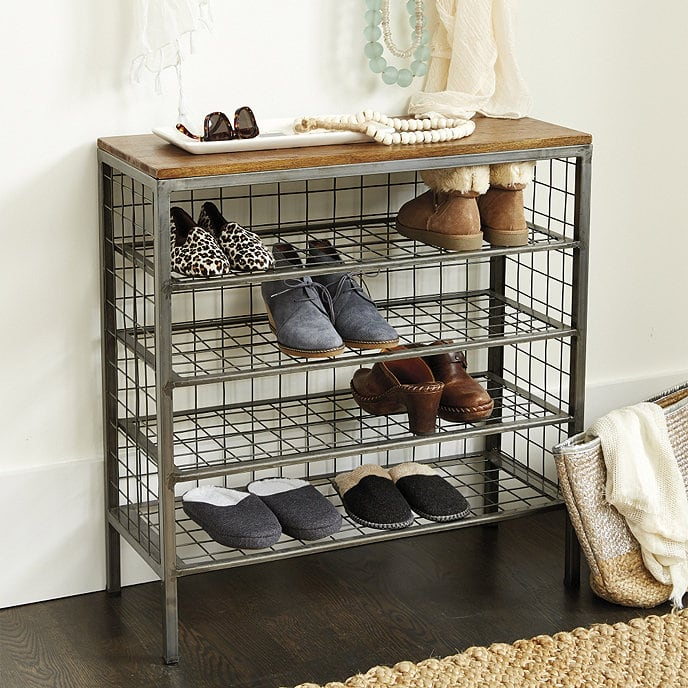 Add Wire Shelving to Double as a Shoe Rack