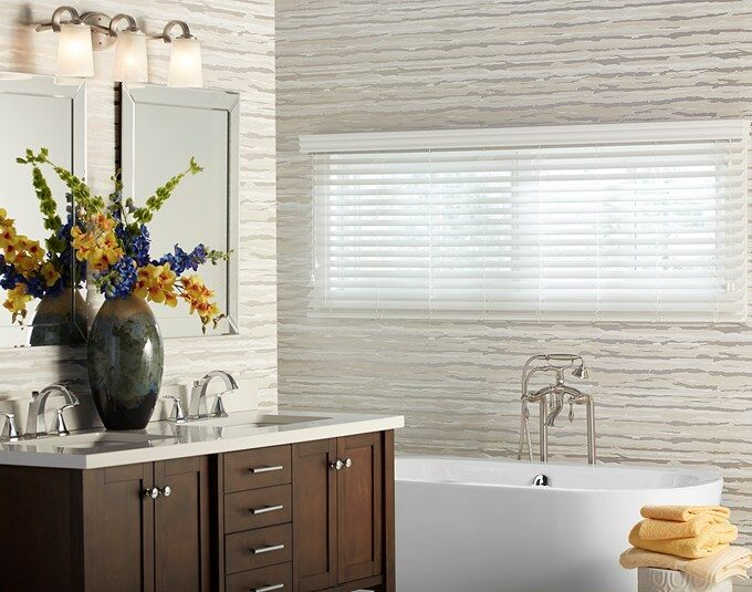 Install Faux Wood Blinds for a More Simple Look