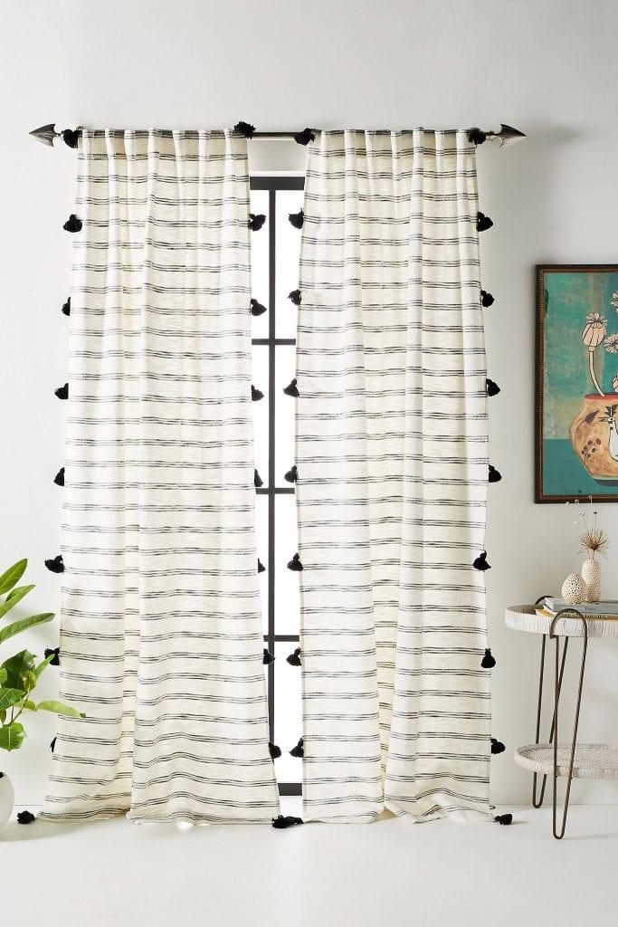 Add Boho Flair With a Tasseled Curtain