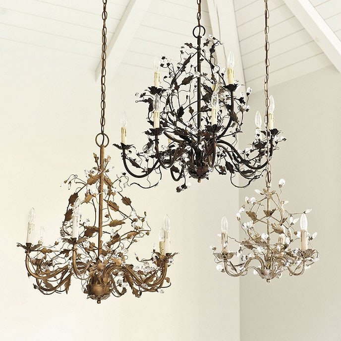 <strong>Look for Ornate Cast-Iron Chandeliers</strong>