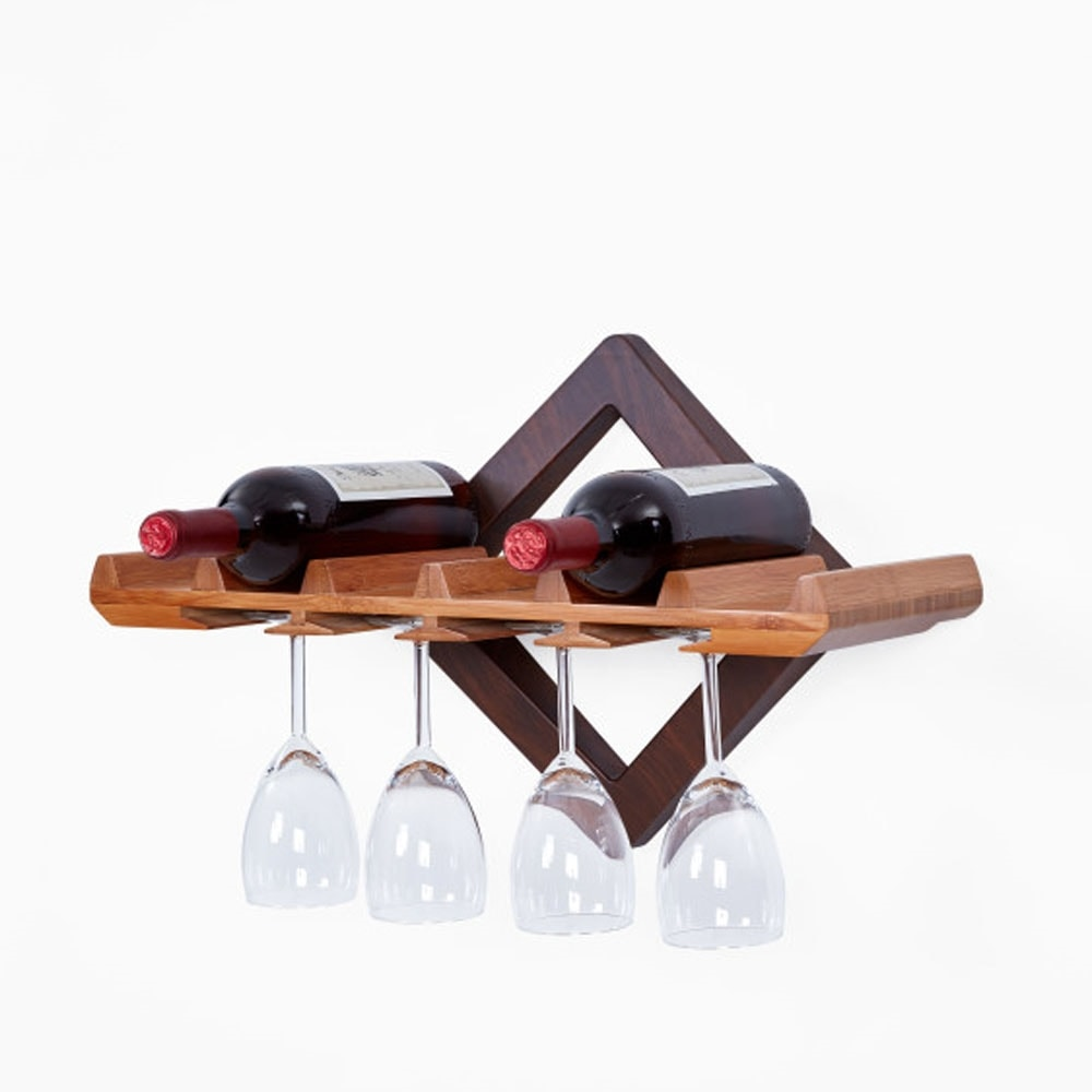 Add a Cool Floating Wine Shelf to the Kitchen