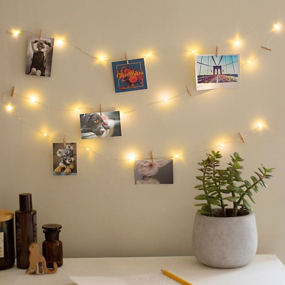 Hang Some Pictures With Twinkle Lights