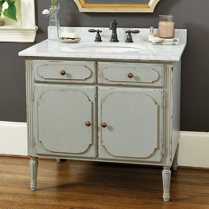 Use a Vintage Bathroom Vanity