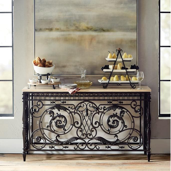 <strong>Use a Cast Iron Accent Table and Other Furnishings</strong>