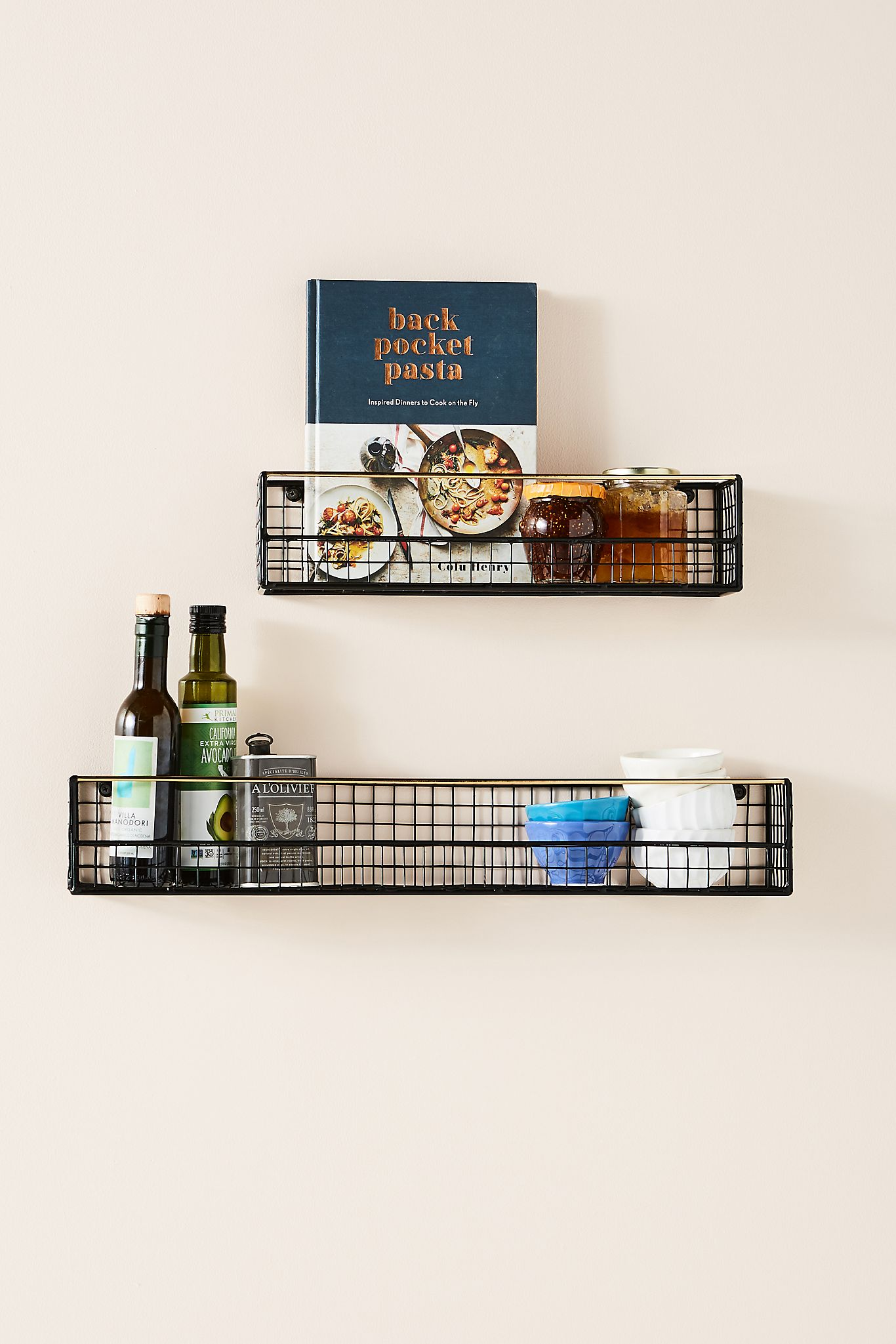 Install Wire Floating Shelves for the Kitchen