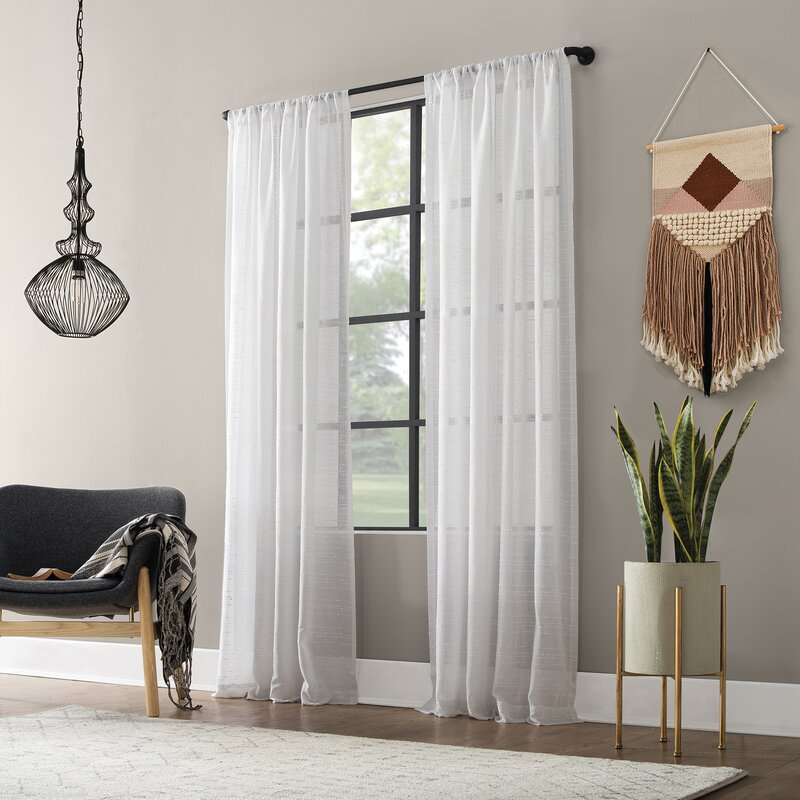 Lighten Things Up With Sheer White Panels