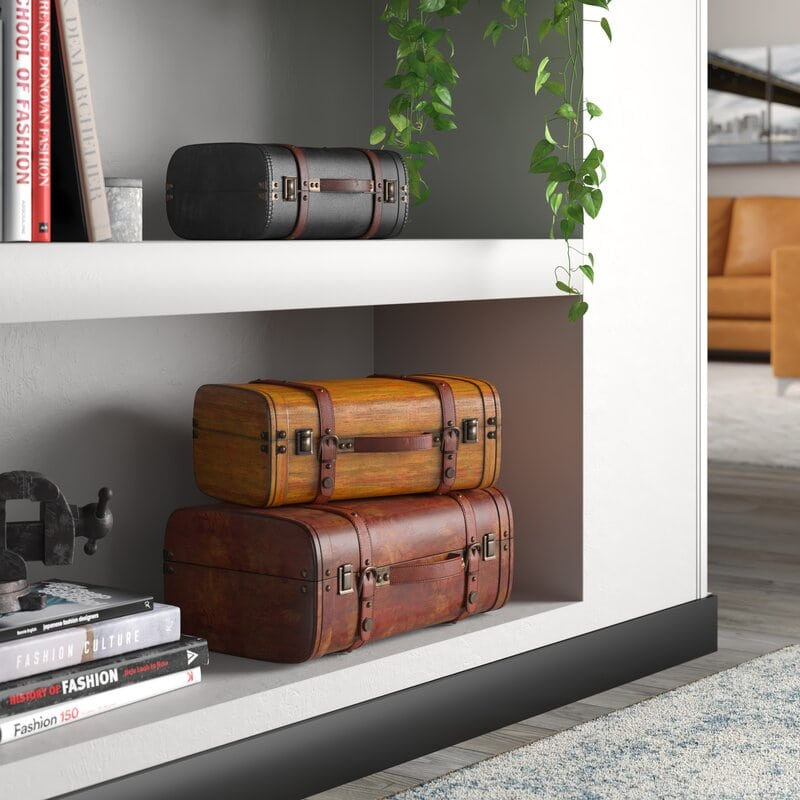Look for Pretty Vintage Suitcases