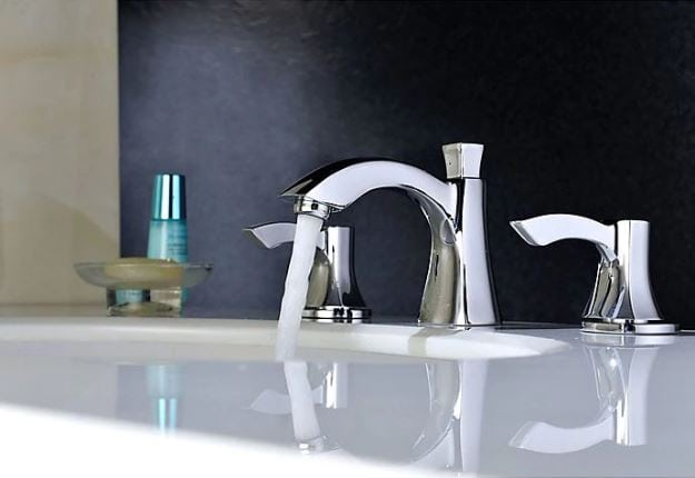 Buy a Standard Two Handle Mid-Arc Bathroom Faucet