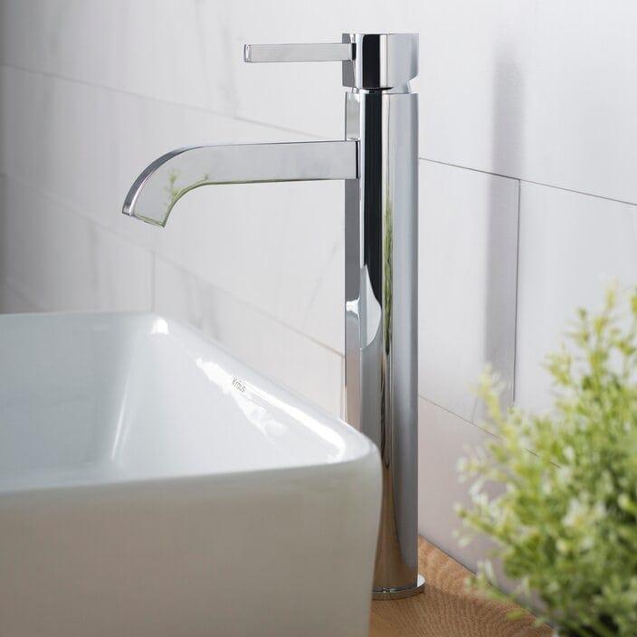 Get a Simple Chrome Bathroom Faucet