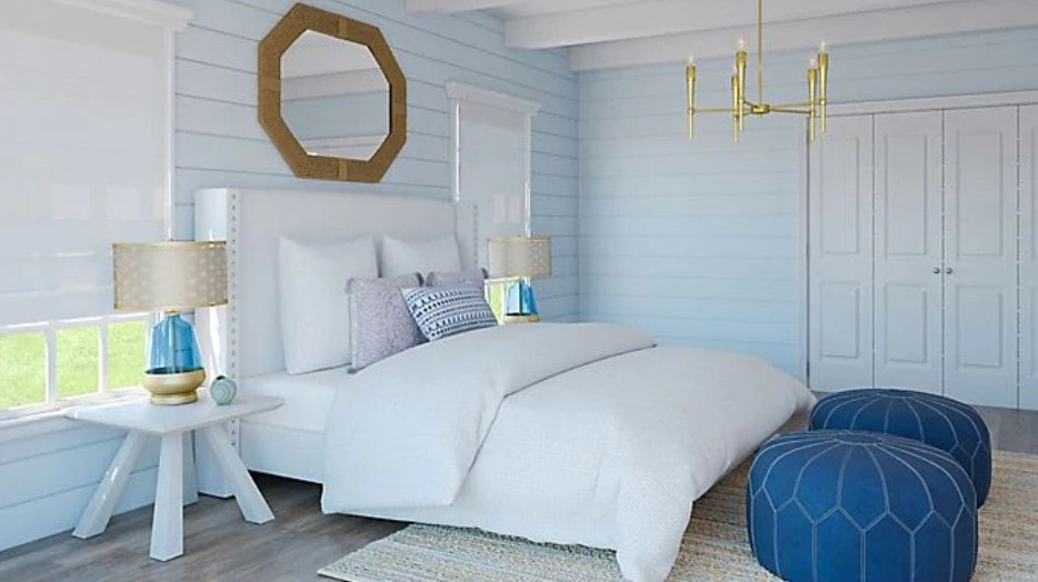 Classic Bi-Fold Against Colorful Shiplap